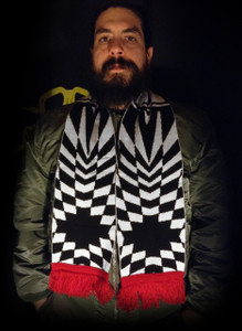 """Love and Rockets - 58x9"""" Knitted Scarf"""