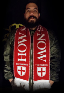"""The Smiths - How Soon Is Now - 58x9"""" Red Knitted Scarf"""