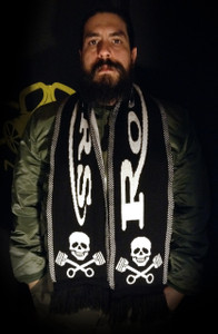 """Rockers - 58x9"""" Knitted Scarf"""