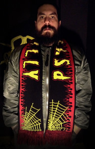 """Psychobilly - 58x9"""" Knitted Scarf"""
