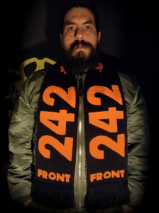 """Front 242 - 58x9"""" Knitted Scarf"""