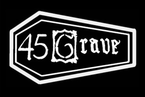"45 Grave Coffin 6x4"" Printed Sticker"