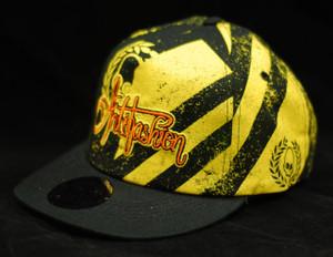 Antifashion - Baseball Style Black and Yellow Street Pattern Snapback Cap
