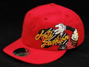 Antifashion - Baseball Style Red with Ice Cream Cone Snapback Cap