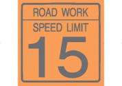 (C17) ROAD WORK SPEED LIMIT 15 - 24X24 CB