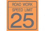 (C17) ROAD WORK SPEED LIMIT 25 - 24X24 CB