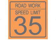 (C17) ROAD WORK SPEED LIMIT 35 - 24X24 CB