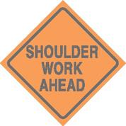 (C24) SHOULDER WORK AHEAD - 24X24 CB