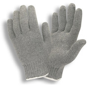 3415 GRAY POLY/COTTON KNIT GLOVES - LRG (DOZEN)