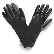 "14"" BLACK GAUNTLET PVC COATED GLOVES (DOZEN)"