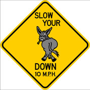 SLOW YOUR A** DOWN - SIGN