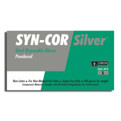 SYN-COR SILVER VINYL GLOVE