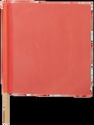 ORANGE MESH FLAG W/ WOOD STAFF