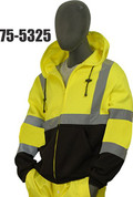 HI-VIZ ZIP UP SWEATSHIRT - YELLOW/ BLK
