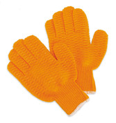 1525I ORANGE CRISS-CROSS COATED GLOVES (DZ)