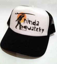 Sasquatch surfer black trucker hat