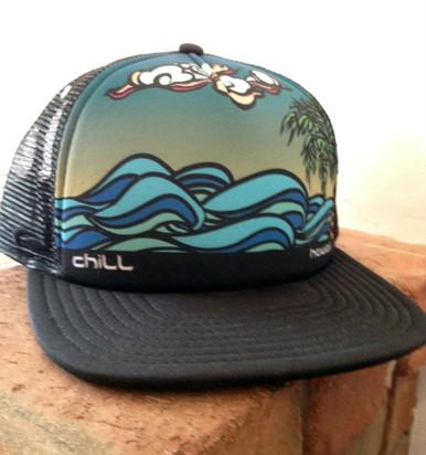 Chill Hawaii Flatbill Trucker Hat