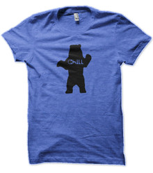 Chill Bear Blue Heather T shirt