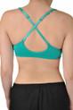 V neck sports bra cross straps view