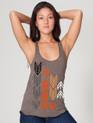Arrows design printed on women's Tri Coffee Racer Back Tank Top