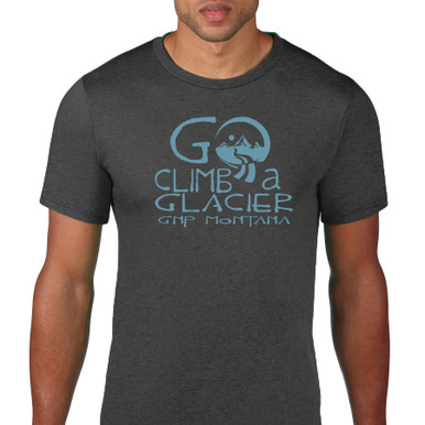 Go Climb a Glacier T Shirt. Heather grey