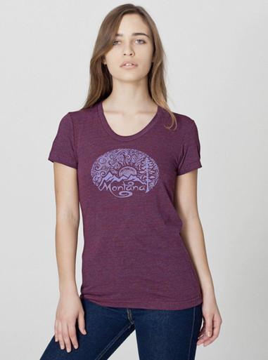 montana woodcut t shirt