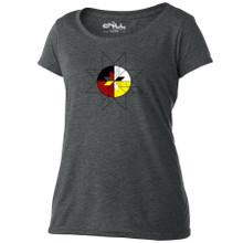 Medicine Wheel women's scoop T shirt