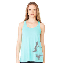 Egrets women's Racer Back Tank teal