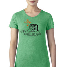 Chief Mountain Ninaistako women's t shirt heather green