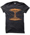 Acacia Tree printed on men's heather Black t shirt