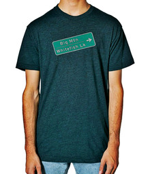 Big Mountain Whitefish Sign mens T shirt