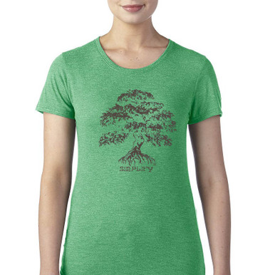 Banyan Tree Simplify women's T Shirt green heather