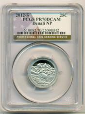 2012 S Clad Denali NP ATB Quarter PR70 DCAM PCGS Flag Label