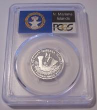 2009 S Silver Northern Mariana Islands Territories Quarter PR70 DCAM PCGS Flag Label