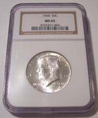 1964 Kennedy Half Dollar MS65 NGC