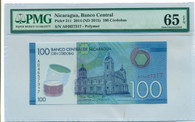 Nicaragua 2014 100 Cordobas Bank Note Gem Uncirculated 65 EPQ PMG