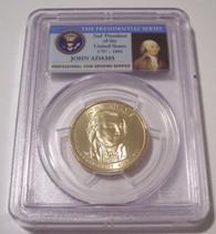2007 P John Adams Presidential Dollar Edge Lettering Error MS65 PCGS