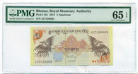 Bhutan 2015 5 Ngultrum Bank Note Gem Uncirculated 65 EPQ PMG