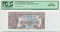 Great Britain ND (1948) Pound Military Voucher Gem New 66PPQ PCGS