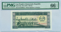 Lao People's Democratic Republic 1979 100 Kip Note Gem Uncirculated 66 EPQ PMG