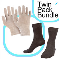 Silver Gloves 8%/ Short Socks 9% Bundle