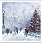 2016 SALE - Sparkling Red Christmas Tree - Christmas cards