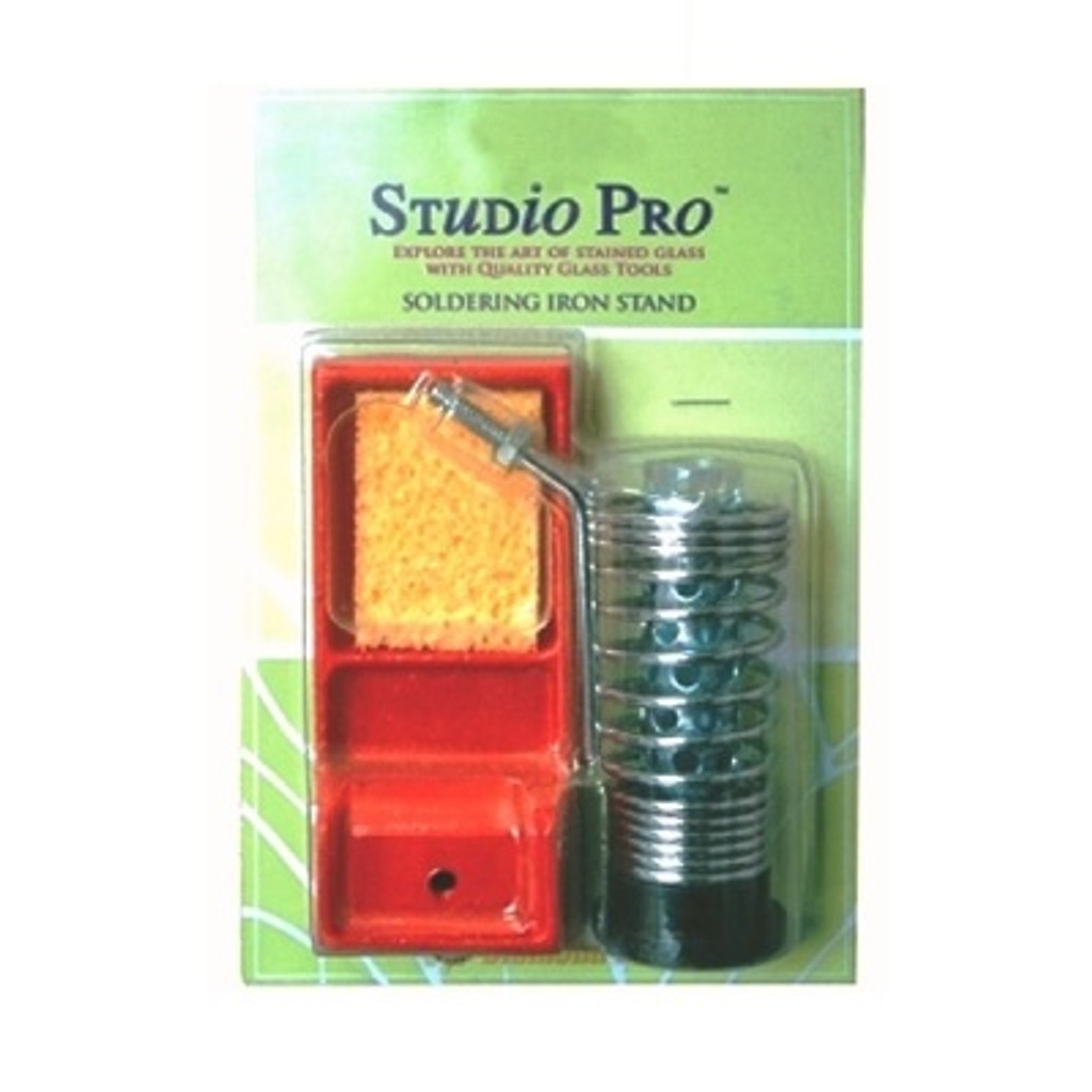 The Studio Pro Soldering Iron Stand is designed to accommodate all major brands of soldering irons.