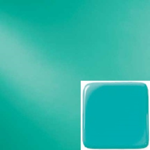 "Easter Green Opalescent System 96 fusible glass is a solid, smooth, bright blue-green opalescent glass in the System 96® family. This popular line of ""Tested Compatible"" glass is designed for fusers and other hot glass enthusiasts."