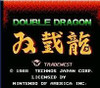 Double Dragon Nintendo NES game footage title screen image pic