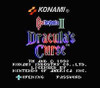 Castlevania III Dracula's Curse - NES Game title screen