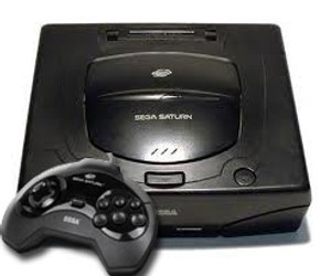 Sega Saturn 1 Player Pak - Console, controller, and cords.