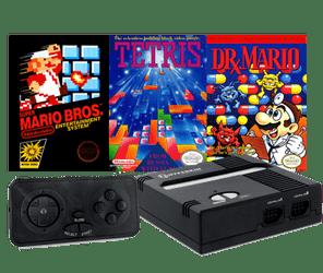 Retron 1 System Console Mario Tetris Dr. Mario Game Puzzle Bundle