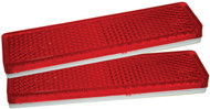 Reflectors 85x22mm Red