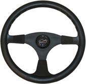 """Multiflex Sports Wheel - """"Alpha"""" 3 Spoke - Black"""